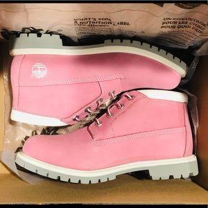 Timberland Nellie Pink Chukka Boots Women's 9